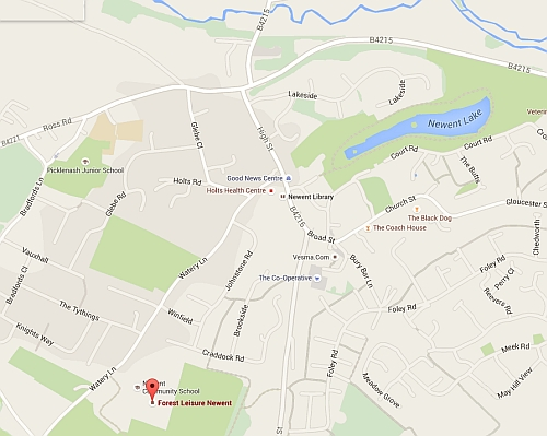 Newent Judo Club local map