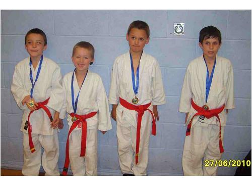 Picture of our younger medallists